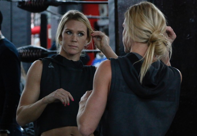 Holly Holm Treino Aberto UFC 208 (Foto: Evelyn Rodrigues)