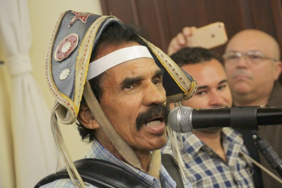 Roberto do Acordeon participou do lançamento do São João da prefeitura (Foto: Alex Régis/Prefeitura de Natal)