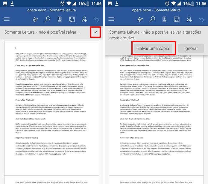 Usuário precisa salvar uma cópia do arquivo PDF antes de editá-lo no Word (Foto: Reprodução/Elson de Souza)