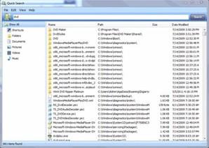 Quick Search, buscador de arquivos