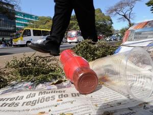 Projeto Uberlândia descarte lixo vias públicas (Foto:  Edilson Rodrigues/Agência Senado)