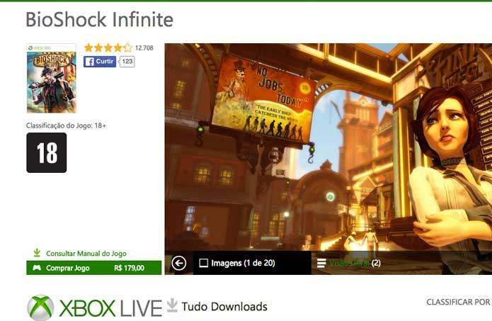 BioShock Infinite na Xbox Live (Foto: Reprodução/Felipe Vinha)