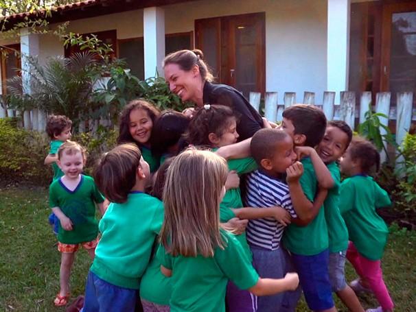 Caçadores de Bons Exemplos: Tatiana Floresti decidiu, junto com o marido, largar São Paulo e ir viver na fazenda. Lá, eles resolveram ajudar as comunidades rurais (Foto: Globo)