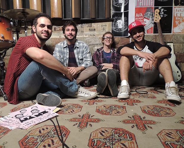 Banda Jamz em segundo dia de gravação (Foto: Divulgação)