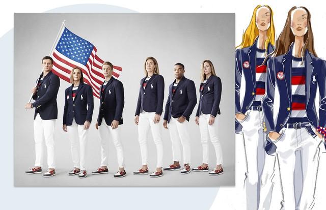 5584a5d02b35a Polo Ralph Lauren cria jaqueta iluminada para Olímpiadas (Foto  Reprodução)
