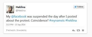 Por meio do Twitter, drag queen Heklina diz que teve sua conta do Facebook apagada por uso de nome falso (Foto: Reprodução/Twitter)