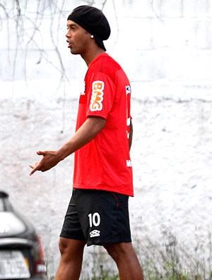 Ronaldinho Gaúcho no treino do Flamengo (Foto: André Portugal / Vipcomm)