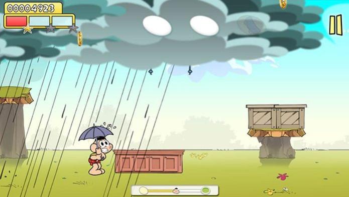 Quando perde, o Cascão toma chuva (Foto: Divulgação) (Foto: Quando perde, o Cascão toma chuva (Foto: Divulgação))