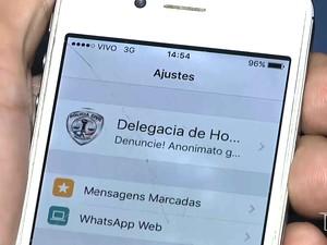 WhatsApp pode ajudar trabalho da ´polícia em Imperatriz (MA) (Foto: Reprodução/TV Mirante)
