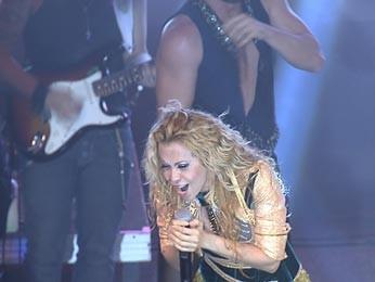 Joelma no palco do Bamboa Brasília (Foto: TV Globo/Reprodução)
