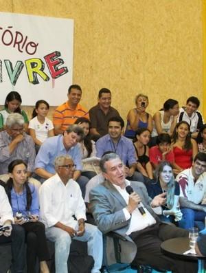 Bate papo ex-treinador sugeriu dicas para aproveitar melhor Arena da Amazônia (Foto: Frank Cunha/Globoesporte.com)