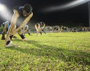 Genus realiza último treino antes de enfrentar o Atlético-AC em casa (Foto: Hugo Crippa)