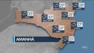 Veja como ficará o tempo em todas as regiões de SC nesta terça-feira (25)