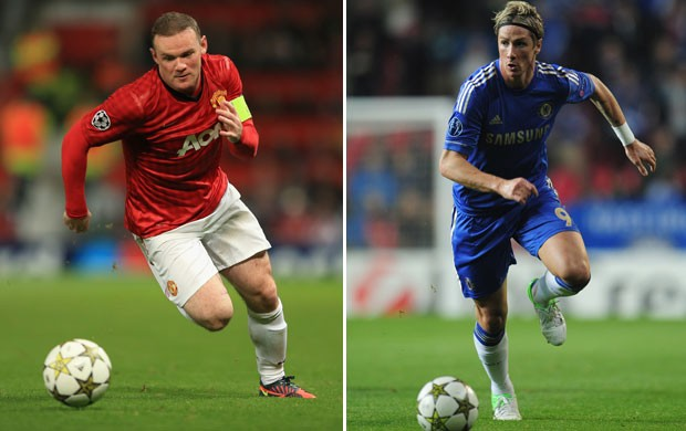 fernando torres rooney chelsea manchester united (Foto  Getty Images) b13a737fdc6cd