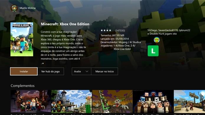 Faça o pagamento e comece a baixar o Minecraft (Foto: Reprodução/Murilo Molina)