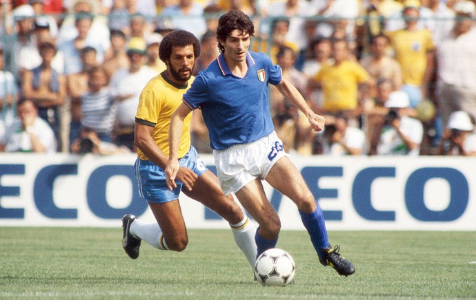 Paolo Rossi e Junior, Copa 1982, Brasil x Itália (Foto: Agência Getty Images)