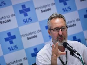 Diretor do Departamento de Vigilância de Doenças Transmissíveis do Ministério da Saúde, Cláudio Maierovitch (Foto: Marcello Casal Jr/Agência Brasil)