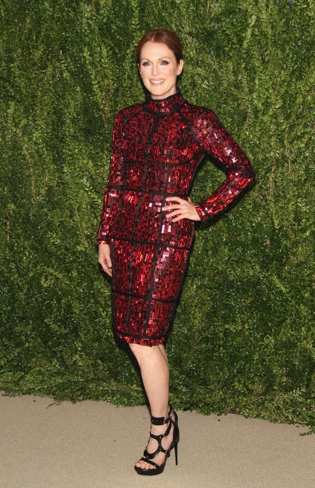 Julianne Moore em evento em Nova York, nos Estados Unidos (Foto: Mireya Acierto/ Getty Images/ AFP)