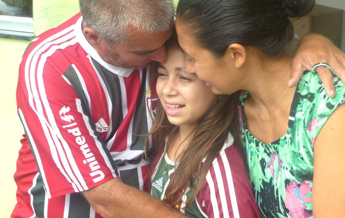 Leticia Camisa Diego Cavalieri Fluminense (Foto: Globoesporte.com)
