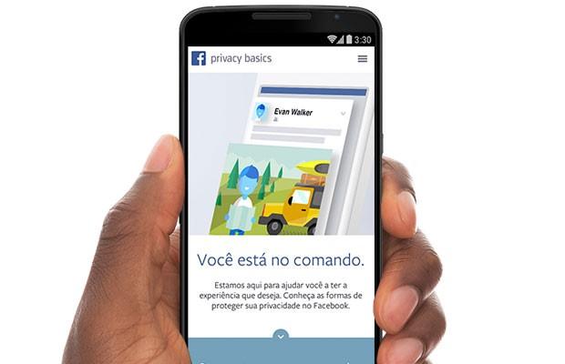 Sessão interativa da política de privacidade do Facebook destinada a esclarecer uso de dados pessoais dos usuários. (Foto: Divulgação/Facebook)