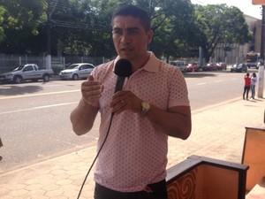 Presidente do Sindicato dos Agentes Comunitários, Jó Pereira (Foto: Jorge Abreu/G1)