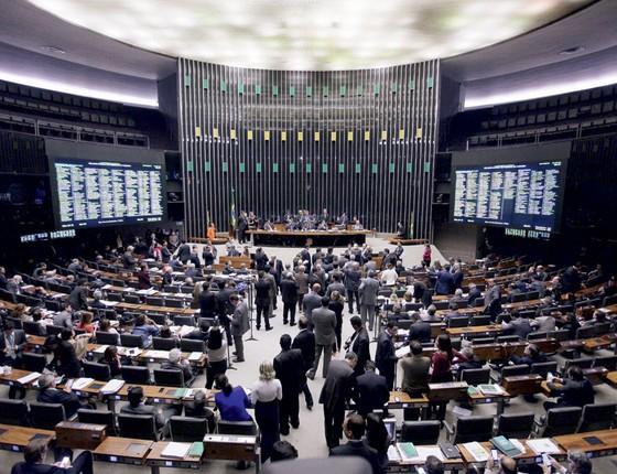 Vista do plenário da Câmara dos deputados (Foto:  Agencia Senado)