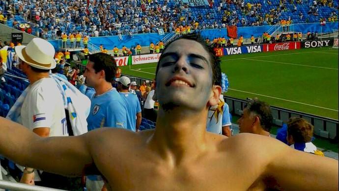 Torcedor Uruguai x Itália (Foto: Sebastian Alberti / Arquivo Pessoal)