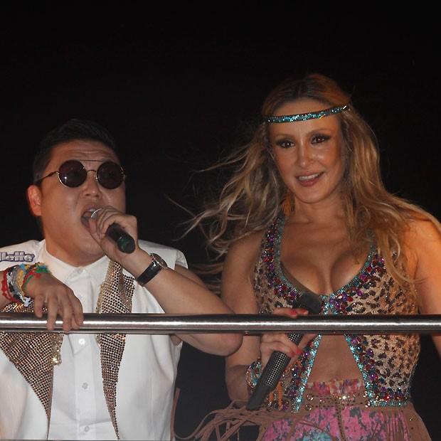 Claudia Leitte e Psy (Foto: Ricardo Cardoso)