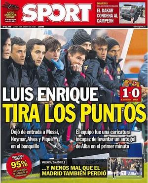 Capa Sport Luis Enrique Barcelona (Foto: Reprodução)