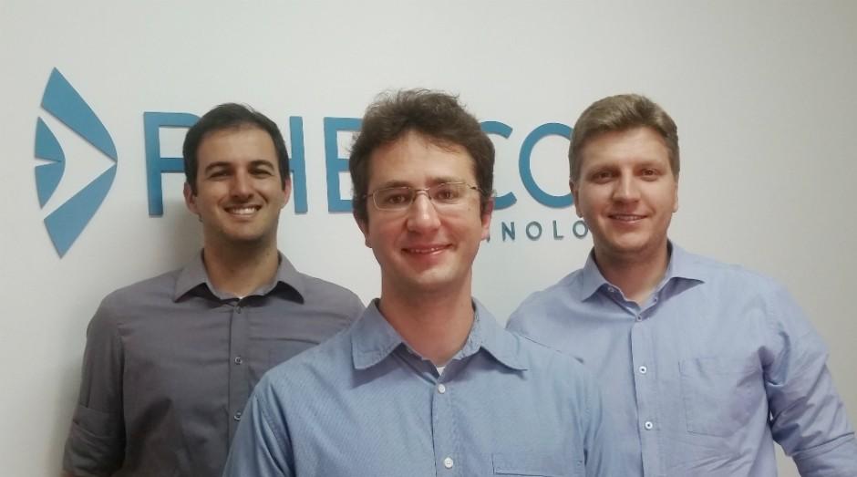 Da esquerda para a direita: Diego Lencione, Flávio Pascoal e José Augusto Stuchi, fundadores da Phelcom (Foto: Divulgação)