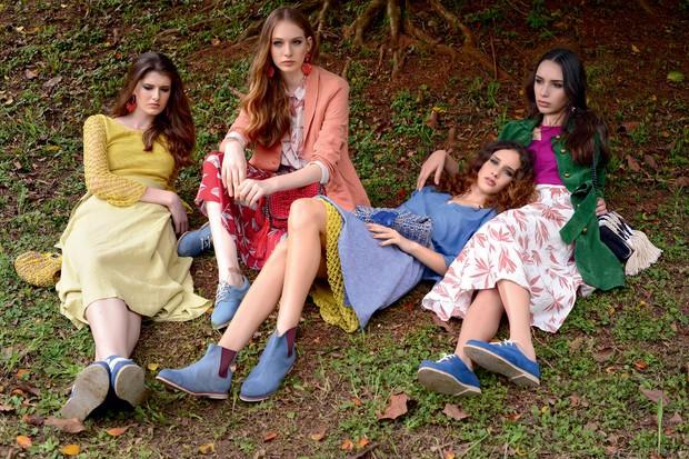 Editorial da Vogue Brasil com peças vencedoras da edição 2015 do Prêmio EcoEra (Foto: Vogue Brasil)