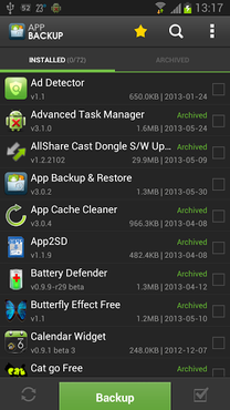 screenshot de App Backup & Restore