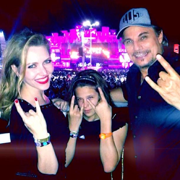 Edson Celulari com a filha, Sophia, e a namorada, Karin Roepke (Foto: Reprodução/Instagram)