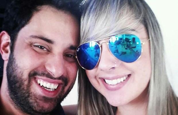 Fisioterapeuta Caillane Marinho com o namorado Diego Lima, suspeito do crime, em Goiás (Foto: Arquivo Pessoal)