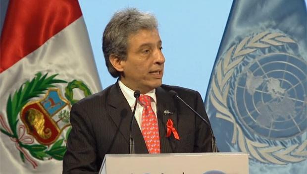 Manuel Pulgar-Vidal, ministro do meio ambiente do Peru e presidente da COP 20 (Foto: UNFCCC/Reprodução)