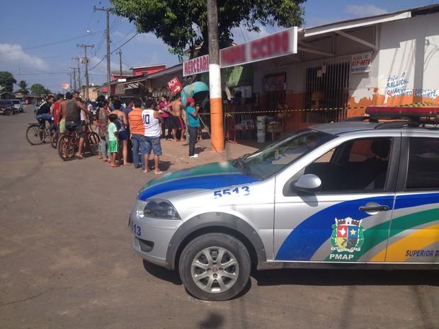 Funcionário estava há dois meses em mercantil onde foi morto em Macapá (Foto: John Pacheco/G1)
