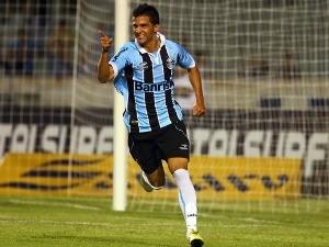 Bertoglio desencantou no último jogo do Grêmio (Foto: Lucas Uebel/Grêmio FBPA)