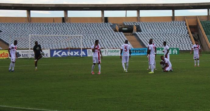 Time do Caiçara contra Piauí pelo Campeonato Piauiense  (Foto: Josiel Martins)