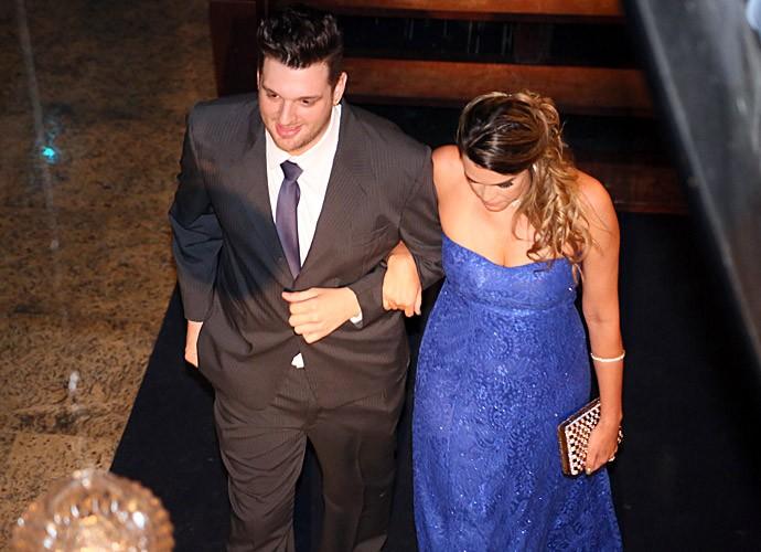 Cássio e a namorada, Gabriele Ferret (Foto: Isabella Pinheiro/Gshow)