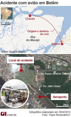 MAPA_acidente-aviao_belem_300 (Foto: Editoria de Arte / G1)