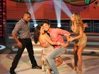 Rodrigo Simas e Claudia Ohana formam dupla e dançam bem juntinhos