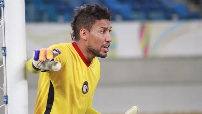 Rafael goleiro Globo FC (Foto: Fabiano de Oliveira/GloboEsporte.com)