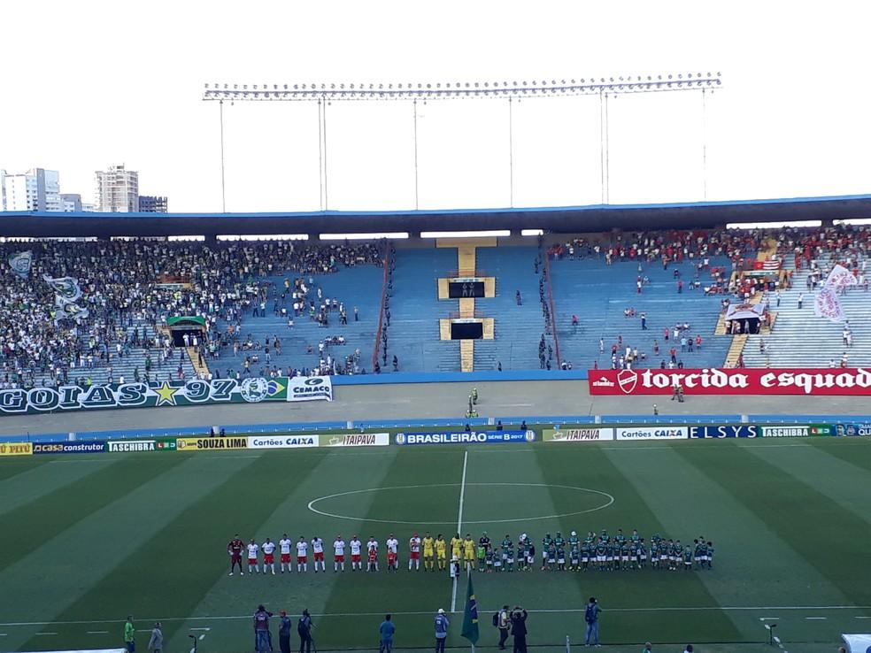 Confusão ocorreu após clássico entre Goiás e Vila Nova; clubes também foram denunciados (Foto: Paula Resende / GloboEsporte.com)