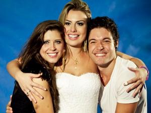 Andressa, Fernanda e Nasser: finalistas do BBB 13 (Foto: BBB / TV Globo)