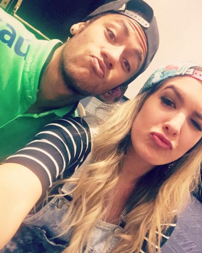 Neymar e Lorena Improta, bailarina do Faustão (Foto: Arquivo Pessoal)