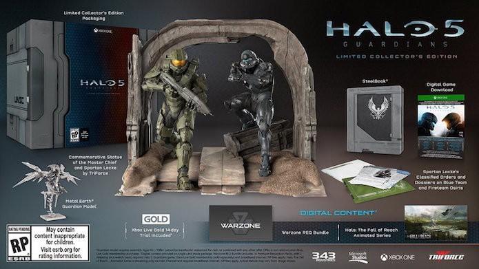 Halo 5: Guardians: edição de colecionador inclui estátua com Spartan Locke e Master Chief (Foto: Divulgação/343)