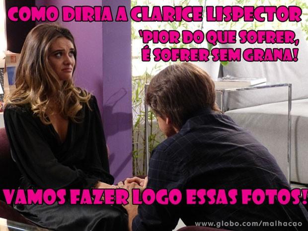 O Bruno não vai topar e a Fatinha va ficar arrasada! tadinha!  (Foto: Malhação / Tv Globo)