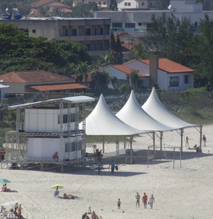 Estrutura da Barrinha em Saquarema (Foto: Gustavo Garcia/GloboEsporte.com)