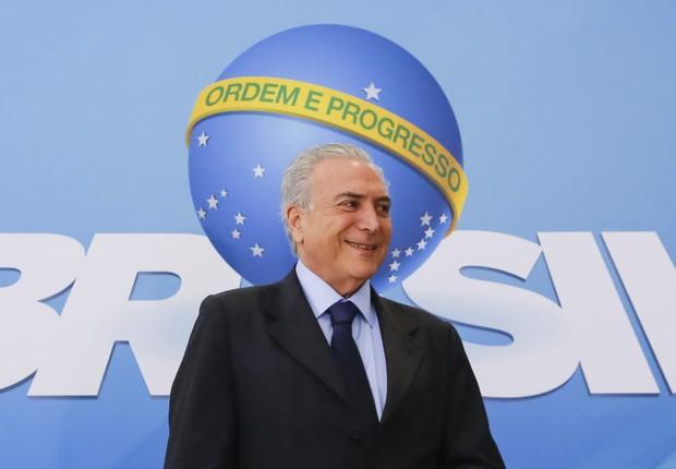 Presidente Michel Temer durante a Cerimônia de Comemoração ao Dia Nacional da Micro e Pequena Empresa (Foto: Marcos Corrêa/PR)