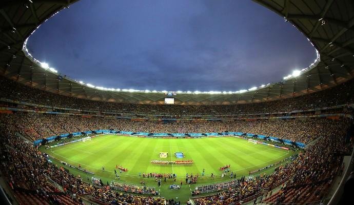 estádio Arena da Amazônia jogo Camarões e Croácia (Foto: AP)